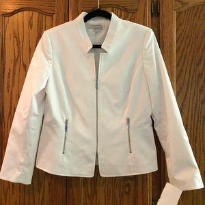 White Tahari jacket